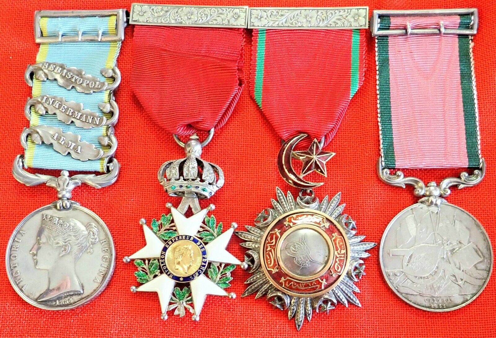 BRITISH ARMY CRIMEAN WAR ALMA REDOUBT STORMERS GROUP MEDALS GENERAL DONOVAN