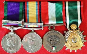 NORTHERN IRELAND & THE GULF WAR GROUP OF 4 MEDALS TO McINNES RLC & RCT