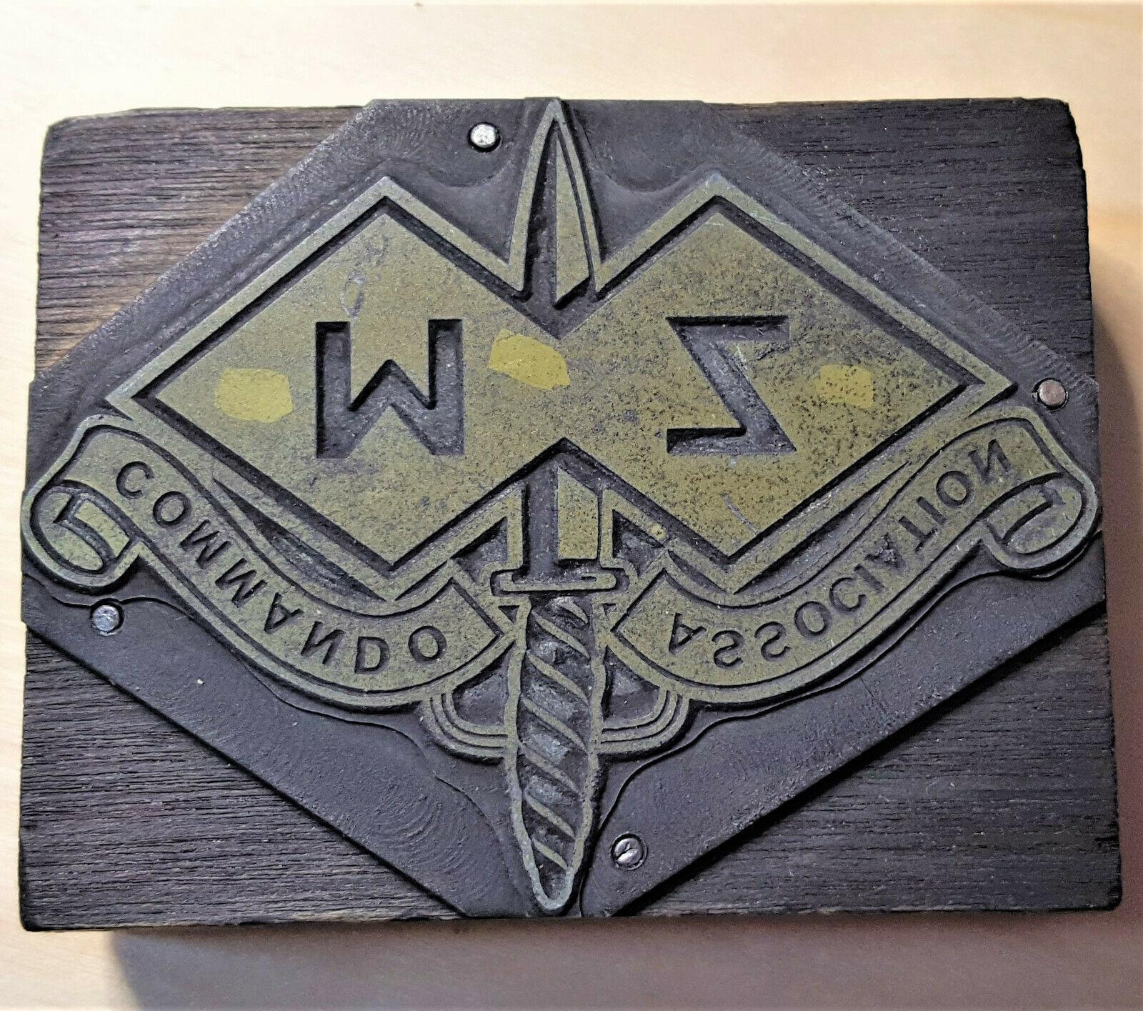 Vintage WW2 Australian Army M & Z Force ink block association stamp
