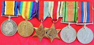 WW1 & 2 BRITISH ARMY GROUP OF 6 MEDALS DRIVER SOWDEN OLD TRAFFORD MANCHESTER