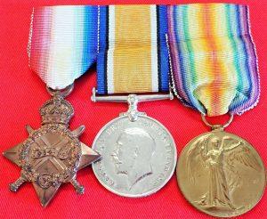 WW1 BRITISH ARMY 1915 STAR TRIO TO HAMILTON RFA SERVED MESOPOTAMIA & FRANCE