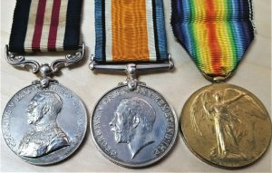 WW1 BRITISH ARMY 1917 MILITARY MEDAL GROUP FOR SOMME CAMPAIGN RA 86931 BASS