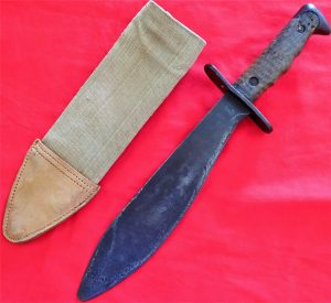 WW1 WW2 USA BOLO KNIFE BAYONET WITH SCABBARD COVER 1917 1918 SWORD