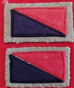 WW2 6th AUSTRALIAN ARTILLERY DIVISION ARMY UNIFORM COLOUR PATCHES