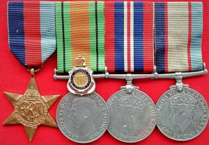 WW2 AUSTRALIAN ARMY MEDICAL CORPS GROUP OF 4 MEDALS NX30762 GARDEN & RSL BADGE