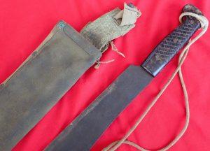 WW2 Australian machete Knife with scabbard dated 1945