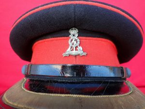 WW2 BRITISH ARMY PIONEER OFFICER'S UNIFORM PEAKED CAP HAT PATROL BLUES