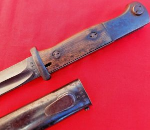 WW2 GERMAN K98 SERVICE BAYONET MATCHING NUMBERED SCABBARD 1940 BY BERG & CO