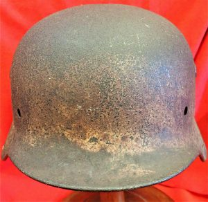 WW2 GERMAN M40 UNIFORM STEEL HELMET SHELL WITH SOME PAINT FINISH QUIST SIZE 68