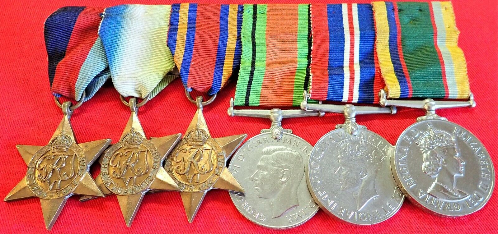 WW2 & NAVAL CADET CORPS MEDAL GROUP OF 6 TO TEMP LT COMMANDER SISSONS RNR