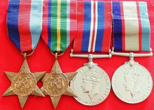 WW2 ROYAL AUSTRALIAN AIR FORCE GROUP OF 4 MEDALS WARRANT OFFICER WILLIAMSON RAAF