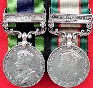 WW2 era 'Double' India General Service Medals to Gunner J.G. Webb British Army