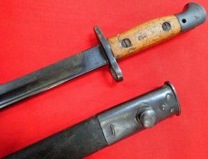 ilkinson WW2 1907 BRITISH INDIAN BAYONET MKI WSC & SCABBARD FIGHTING KNIFE
