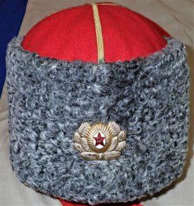 1950's RUSSIAN SOVIET UNION PERIOD ARMY GENERAL'S PAPAHA WINTER UNIFORM FUR CAP
