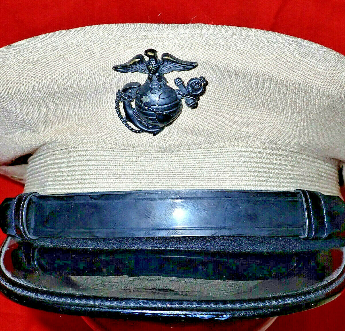 1960's US MARINE CORPS VIETNAM WAR PERIOD OFFICERS UNIFORM PEAKED CAP