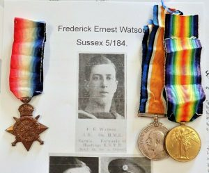 KILLED IN ACTION WW1 ROYAL NAVAL DIVISION 1914 MEDAL TRIO HOWE BN ANTWERP 5 184 FREDERICK WATSON