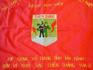 North Vietnamese 'Battle of Junction City' banner NVA & Viet Cong war flag