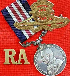 WW1 BRITISH ARMY 1918 MILITARY MEDAL SIGNALER YARE 242 BDE ROYAL FIELD ARTILLERY