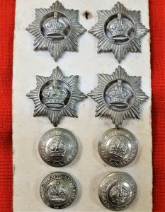 WW1 WW2 ERA BRITISH SINGAPORE & MALAYA PRISON SERVICE UNIFORM BADGES & BUTTONS
