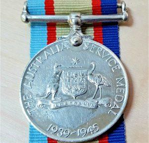 WW2 AUSTRALIAN ARMY MEDAL LANCE BOMBARDIER TERRY. 2/3RD FIELD REGIMENT.