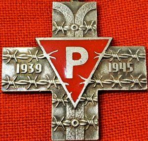 WW2 POLAND AUSCHWITZ COMMEMORATIVE CROSS FOR PRISONERS SURVIVORS OF NAZI CAMPS
