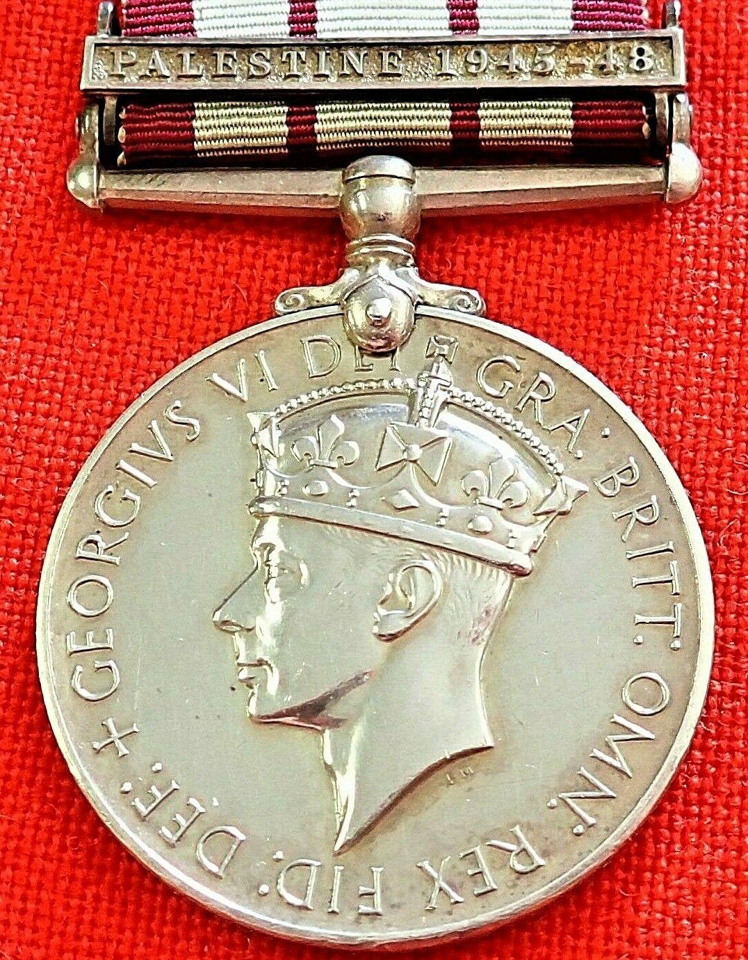 NAVAL GENERAL SERVICE MEDAL (1915) CLASP PALESTINE 1945-48. R.H.HUMPHREYS. R.N