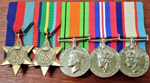WW2 AUSTRALIAN PACIFIC KOKODA MEDAL GROUP REPLICA ANZAC MOUNTED TO WEAR GROUP