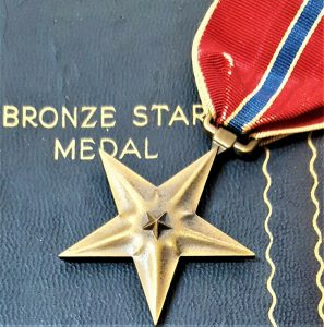 WW2 BRITISH US BRONZE STAR MEDAL IN CASE FOR GALLANTRY IN COMBAT
