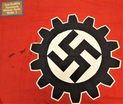 Nazi German Deutsche Arbeits Front (D.A.F.) flag Weimar - Horst Wessel 1
