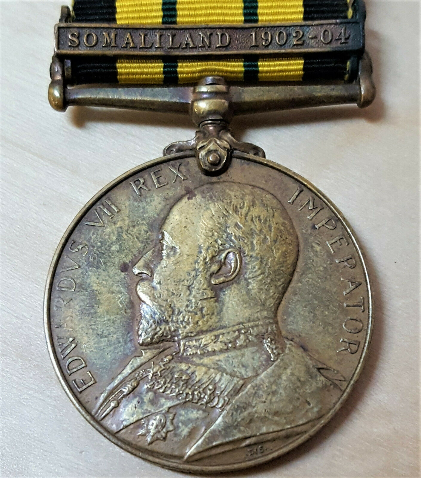 RARE PRE WW1 AFRICA GENERAL SERVICE MEDAL SOMALILAND 1902-04 CLASP BRONZE ISSUE
