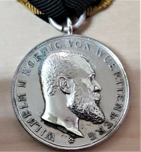 RARE PRE WW1 GERMANY KINGDOM OF WÜRTTEMBERG MILITARY MERIT MEDAL 1892-1918