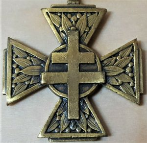 SCARCE WW2 FRENCH CROSS OF THE RESISTANCE 1940-1945 ANTI NAZI FIGHTERS