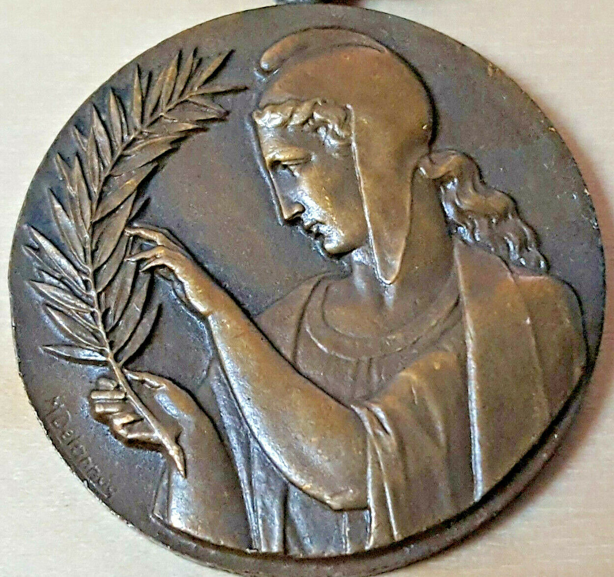 WW2 MEDAL OF FRENCH RECOGNITION RECONNAISSANCE CIVILIAN WAR HELPER MEDAL TYPE 2