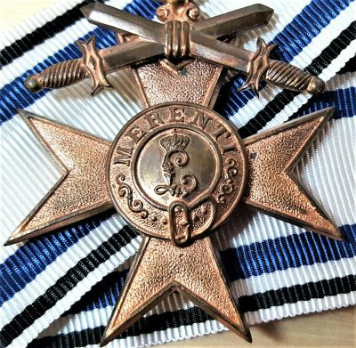 CASED WW1 GERMAN BAVARIAN MILITARY MERIT CROSS 3RD CLASS WITH SWORDS
