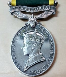 LT. WARDROP POST WW2 ERA BRITISH ARMY TERRITORIAL EFFICIENCY MEDAL