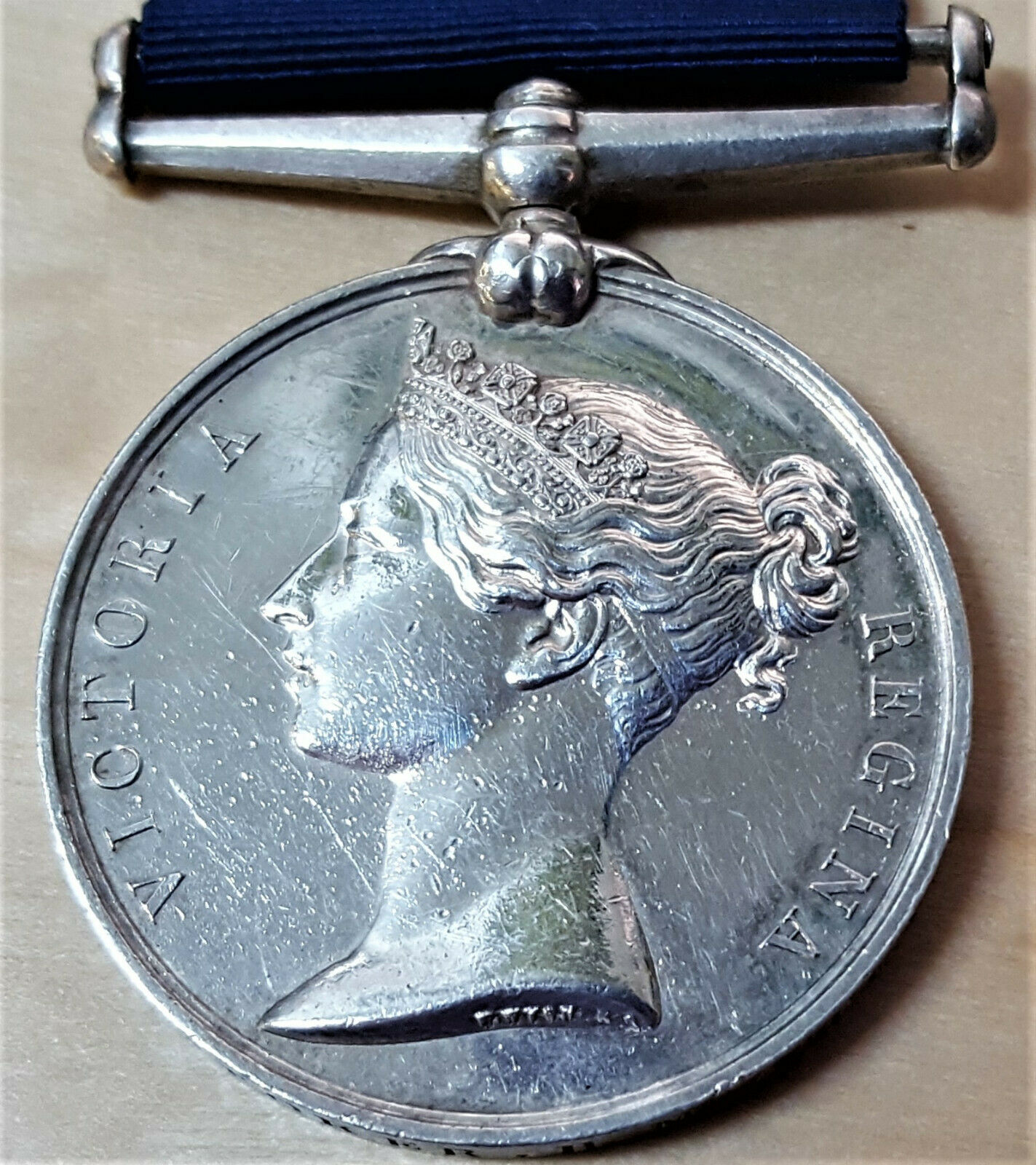 PRE WW1 BRITISH NAVY LONG SERVICE GOOD CONDUCT MEDAL STOKER JOHNSON HMS FEARLESS