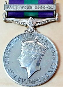 SCARCE COLDSTREAM GUARDS PALESTINE 1945-48 BRITISH GENERAL SERVICE MEDAL