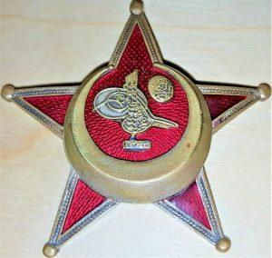 WW1 TURKISH GALLIPOLI STAR MEDAL BADGE IRON CRESCENT MOON GERMAN MADE BB& Co