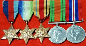 WW2 BRITISH NAVY ATLANTIC & AFRICA STAR CAMPAIGN MEDAL GROUP