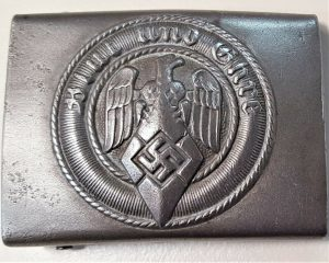 WW2 GERMAN HITLER YOUTH UNIFORM BELT BUCKLE BY EBBER & CO, LUDENSCHEID