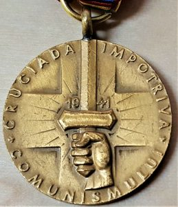 WW2 ROMANIAN CRUSADE AGAINST COMMUNISM SERVICE MEDAL AXIS AWARD