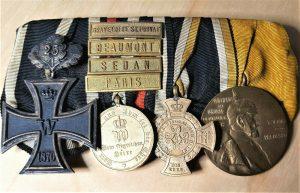 RARE PRE WW1 GERMANY FRANCO PRUSSIAN WAR MEDAL BAR IRON CROSS 25 YEAR OAKLEAF