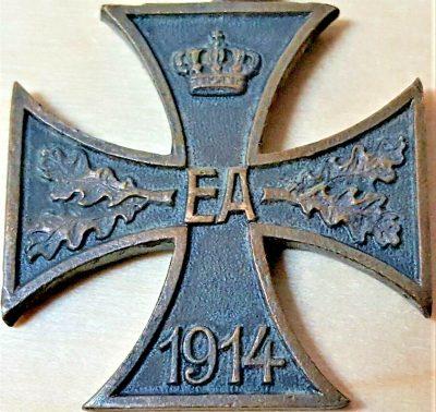 RARE WW1 BRUNSWICK WAR MERIT IRON CROSS 2ND CLASS MEDAL FIRST WORLD WAR