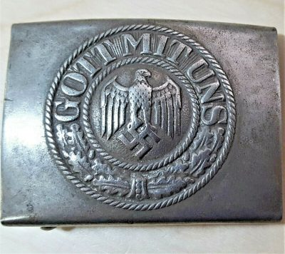 WW2 GERMAN ARMY HEER BELT BUCKLE BY RICHARD SIEPER & SOHNE
