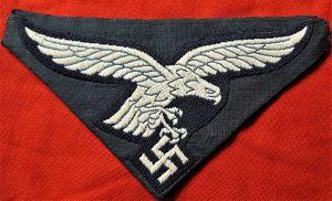 WW2 GERMAN LUFTWAFFE 2ND PATTERN ENLISTED UNIFORM BREAST EAGLE PATCH