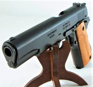 REPLICA M1911 US .45 CAL GOVERNMENT COLT HAND GUN PISTOL DENIX - STRIP DOWN TYPE WOODEN GRIPS 4