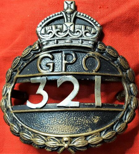 WW1 ERA AUSTRALIAN GENERAL POST OFFICE UNIFORM CAP BADGE POSTAL ANTIQUE