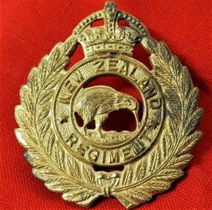 WW2 NEW ZEALAND ARMY INFANTRY REGIMENT UNIFORM CAP BADGE
