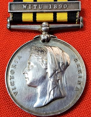 EAST & WEST AFRICA MEDAL 1892 TO COURT MARTIALLED OFFICER LT FOOT RN WA RELATED (2)
