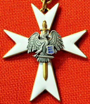 IMMEDIATE POST WW1 ESTONIA WHITE CROSS OF THE CIVIL GUARD 3RD CLASS MEDAL